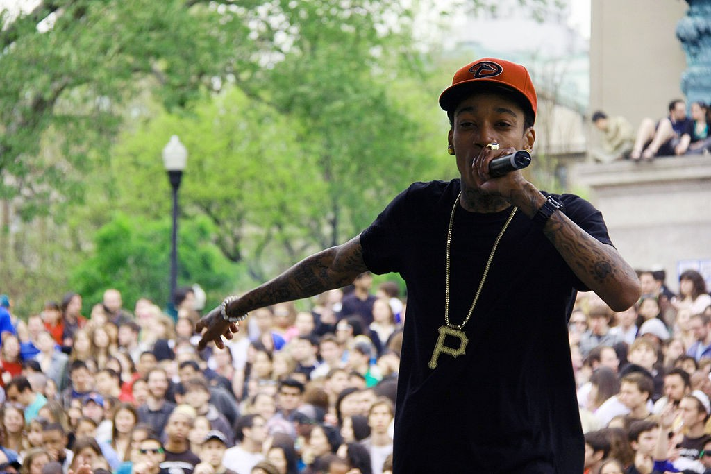 Pittsburgh rapper Wiz Khalifa performing at Columbia University in 2010. photo: Andra MIhali.