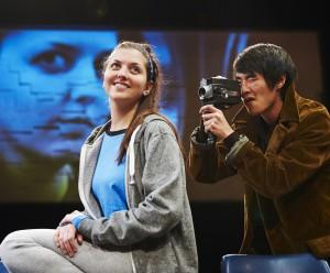 """In """"Oblivion,"""" Julie (Julia Warner) sees the light, but does Bernard (Christopher Larkin) get the picture?"""