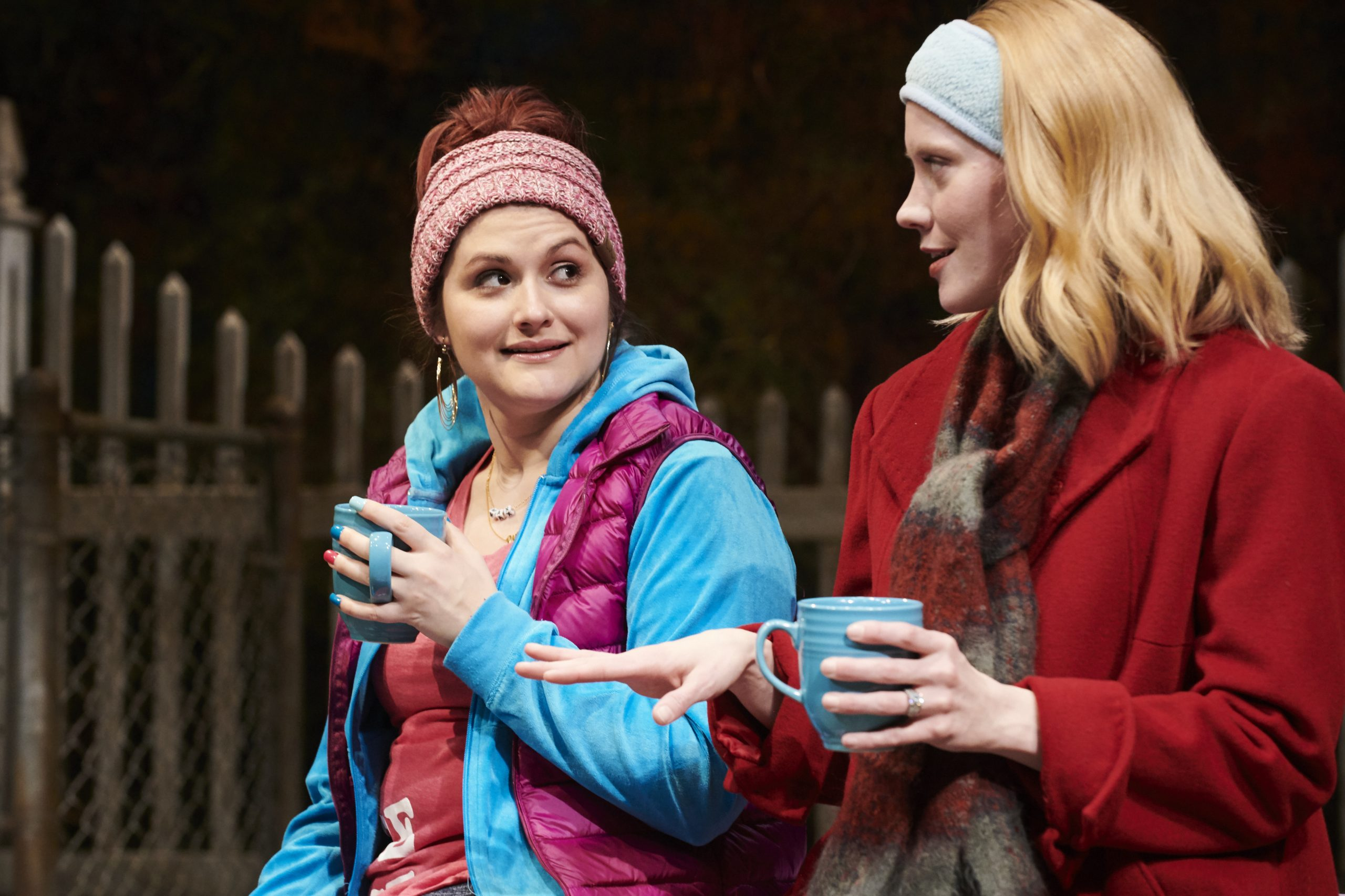 Julianne Avolio (L) and Sarah Goeke play women with new babies and new predicaments in 'Cry It Out' at City Theatre. (photo: Kristi Jan Hoover)