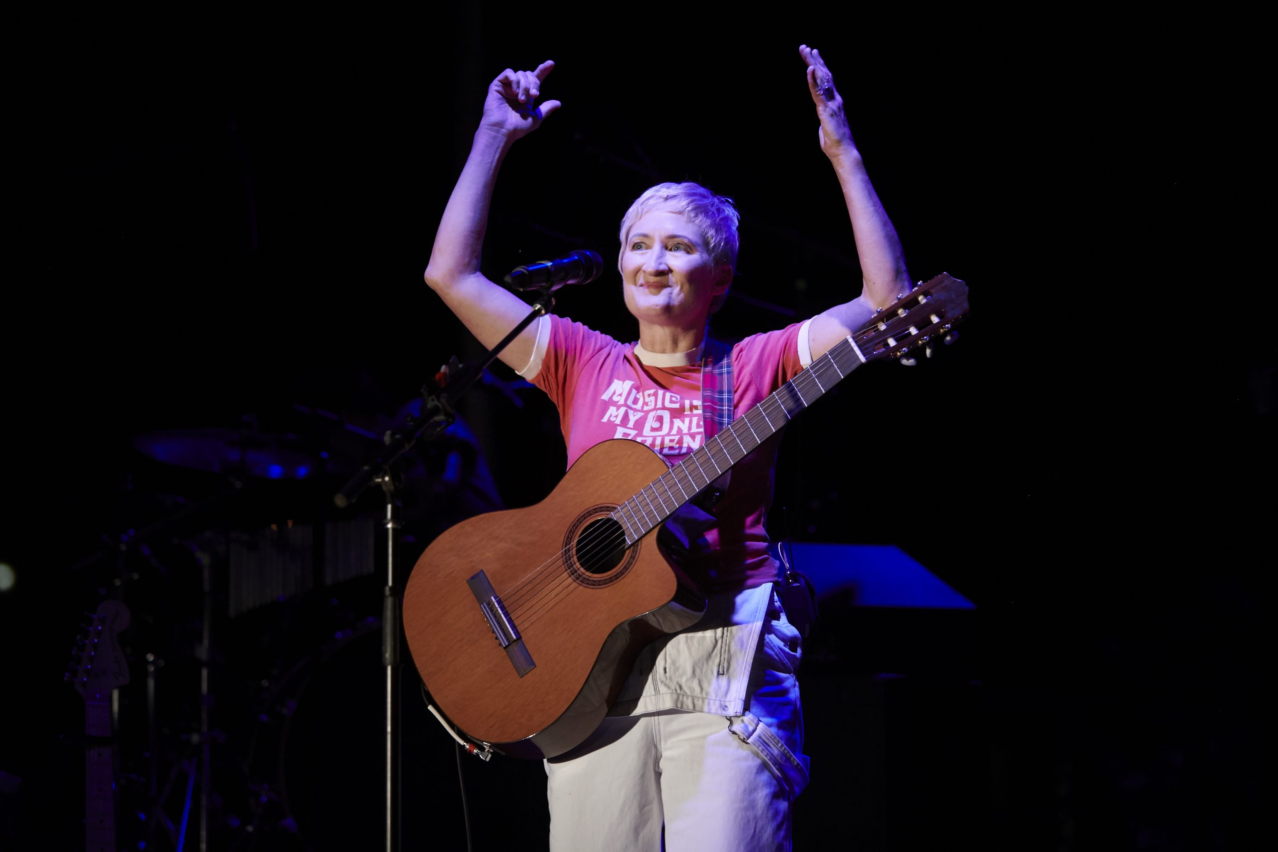 "Noted singer-songwriter Jill Sobule brings her life story, including a rough 7th Grade, to the concert stage in the City Theatre production, ""F*ck7thGrade."" (photo: Kristi Jan Hoover)."