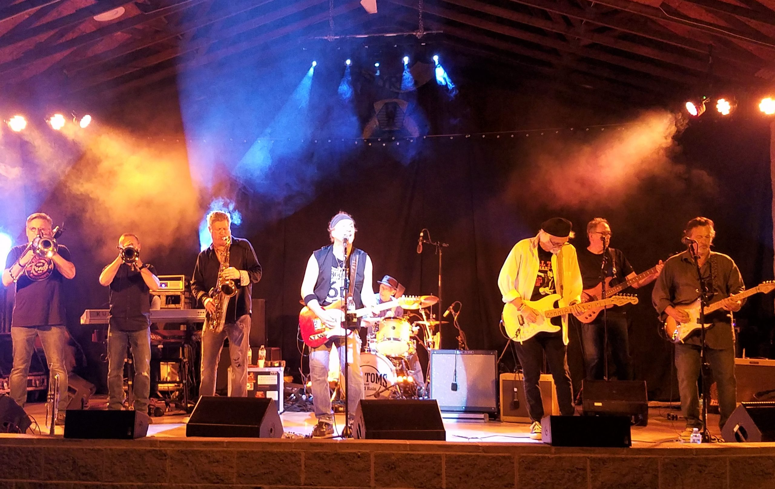 Bill Toms and Hard Rain with the Soulville Horns will be performing June 11 at the South Park Amphitheater for the Allegheny County Concert Summer Concert Series. (photo: Rick Handler)