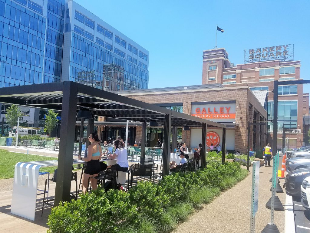 Galley Bakery Square is situated alongside Penn Avenue and next to the former Nabisco Baking Company plant.