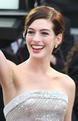 Anne Hathaway. photo: Chrisa Hickey and Wikipedia.
