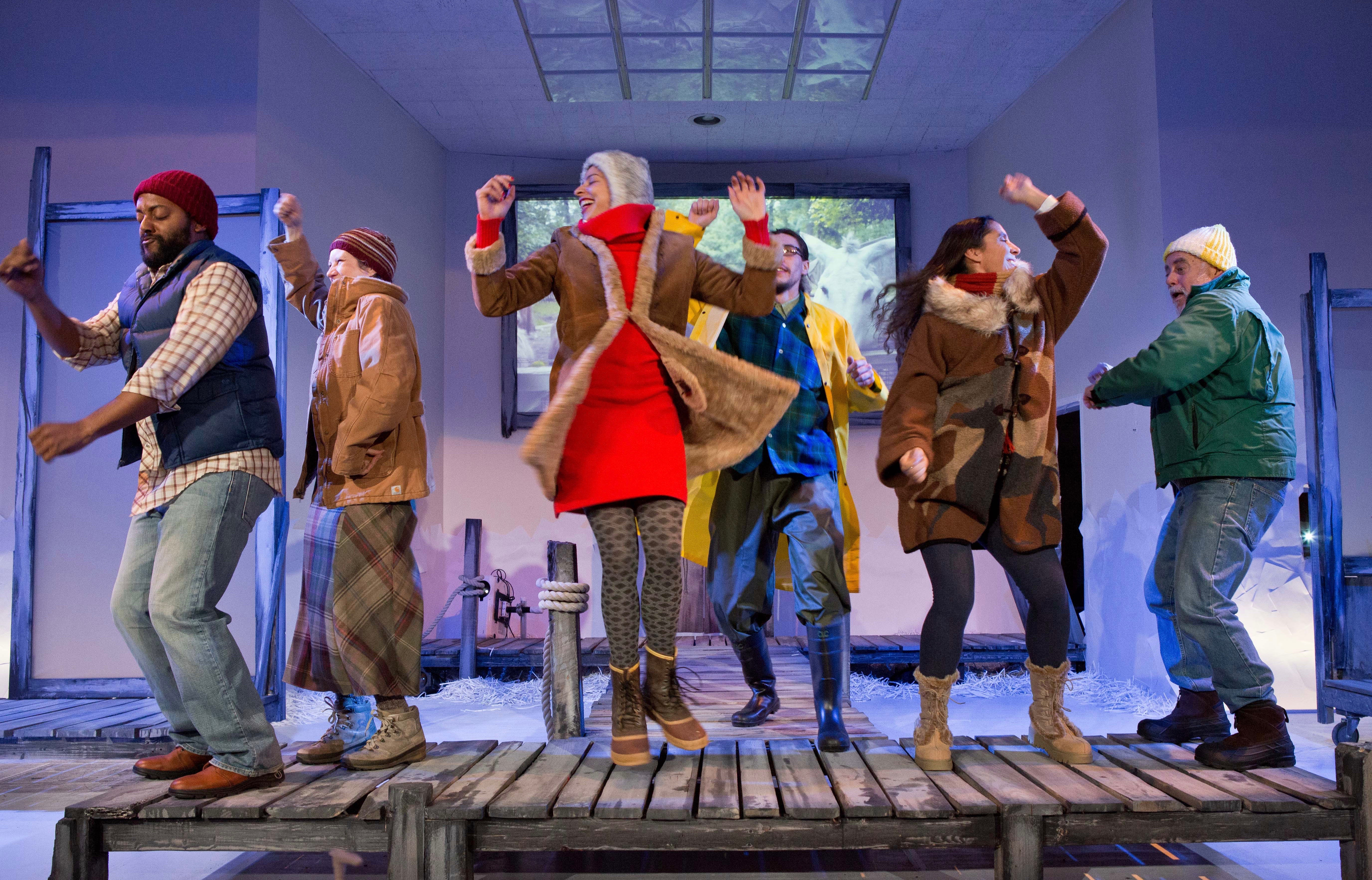 """There are strange things done in the midnight sun, and Gab Cody's multimedia play """"Inside Passage""""—a culture-crossing journey to Alaska—appears to be one of them."""