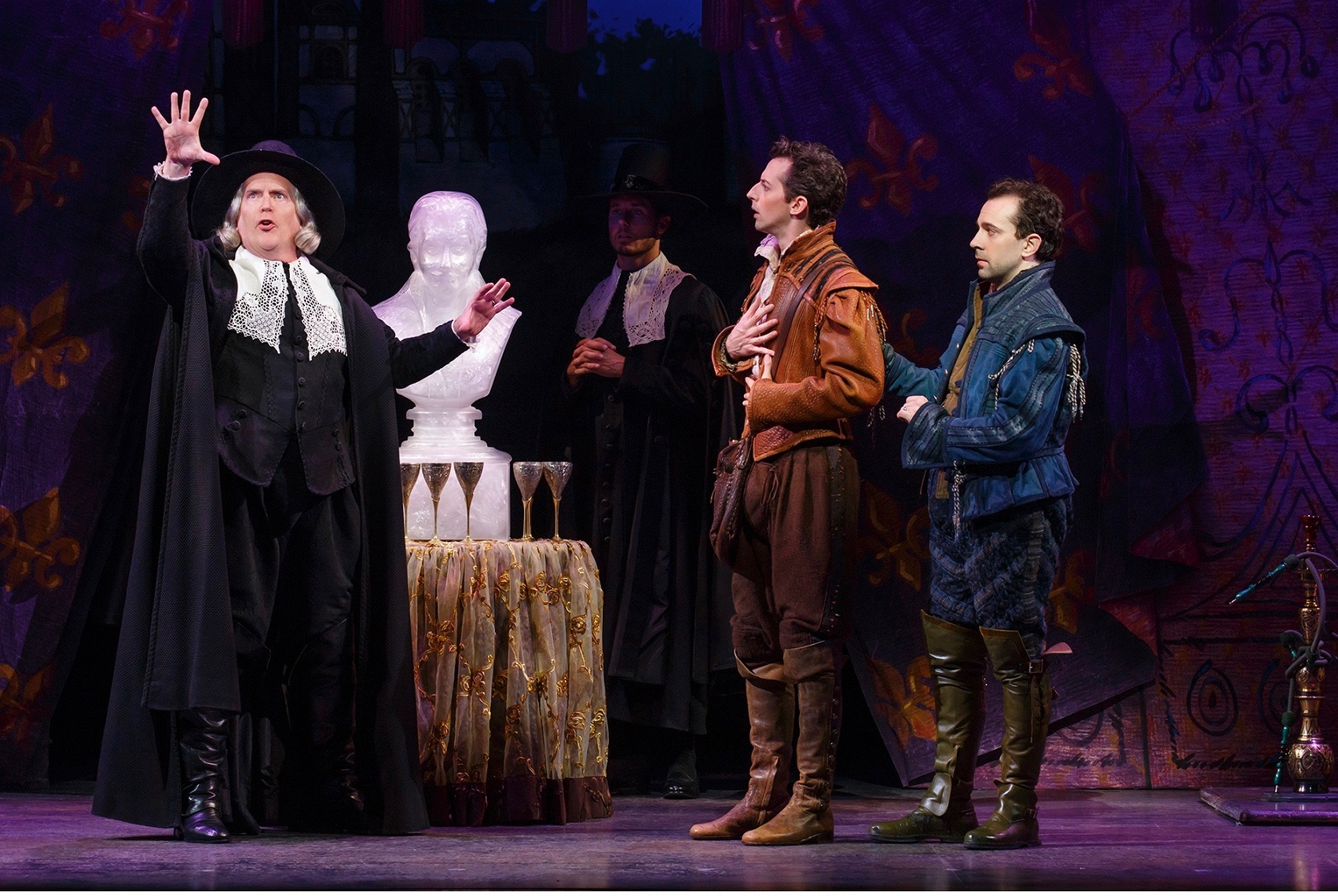 In 'Something Rotten!', Shakespeare's would-be rivals are given mystic foreknowledge of how to write a hit show—but will they proceed to lay an egg?