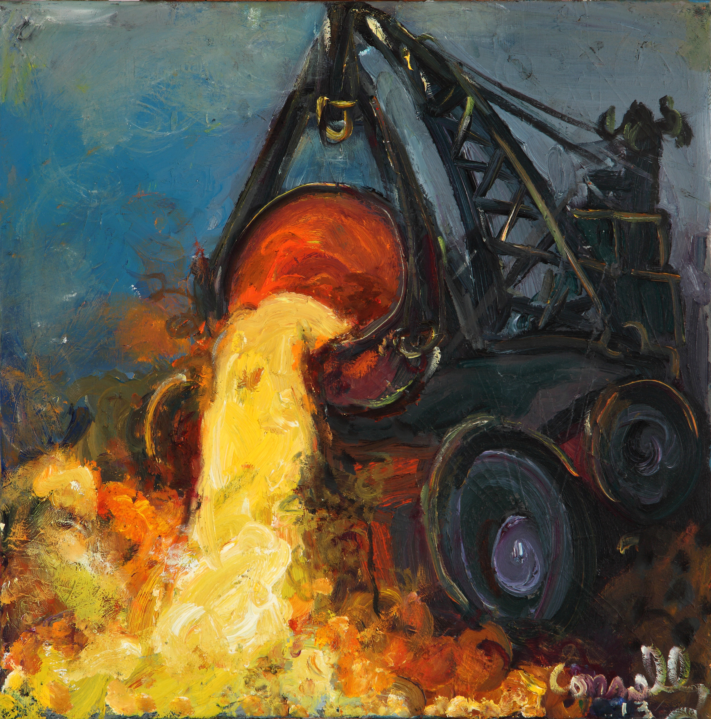 "Chuck Connelly, ""Slag,"" 2013, courtesy of the artist"