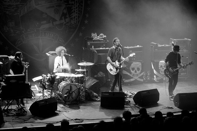 The Dandy Warhols performing in concert at the Kentish Town Forum in London, 2012. photo: Aurelien Guichard.