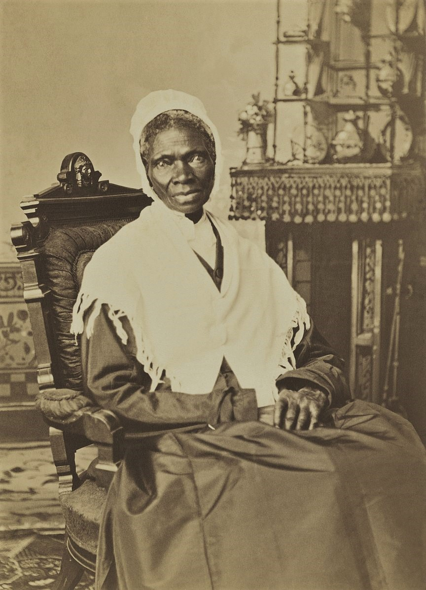 Sojourner Truth in 1870. The photo is from the National Portrait Gallery in Washington, D.C. (Wikipedia)