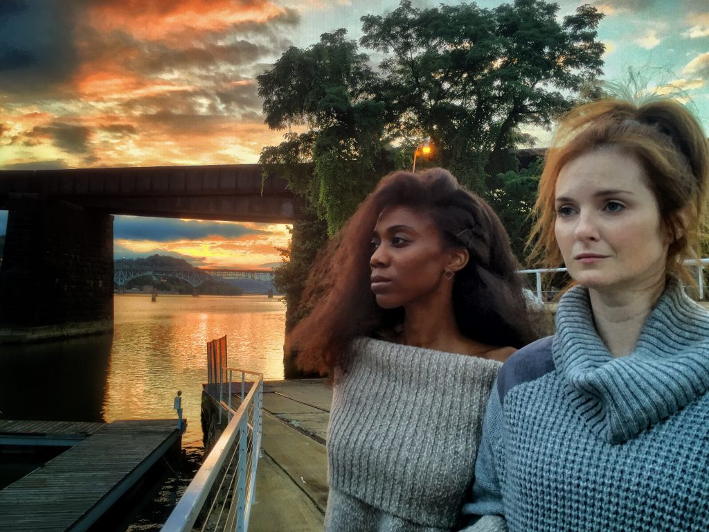 """Siovhan Christensen (L) and Daina Michelle Griffith play the eerie, unnamed women in Quantum Theatre's """"The River."""" But don't be overly spooked: theater on tap this month includes shows that span a rich variety of moods and genres."""