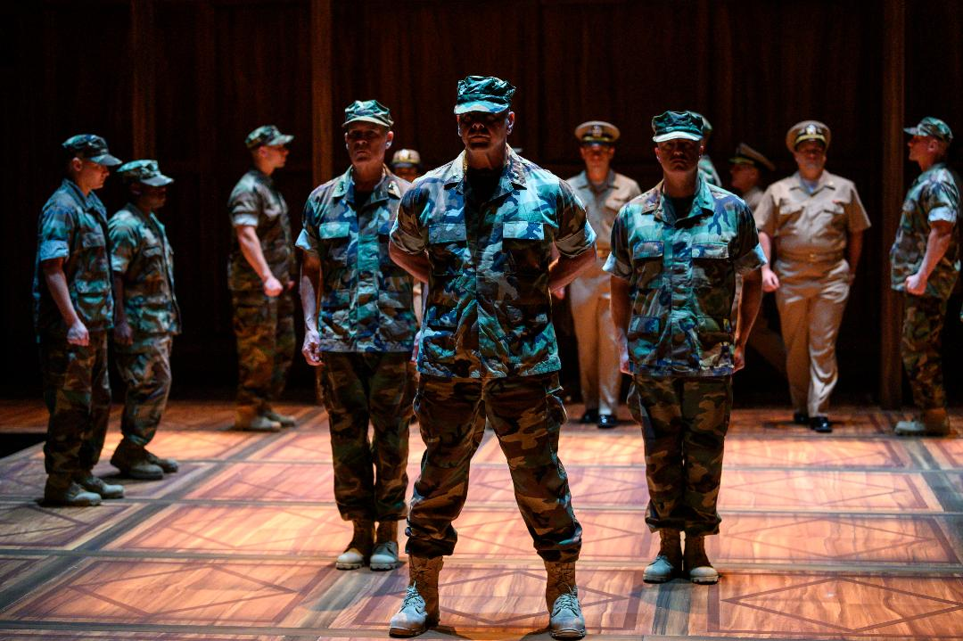 A serious, and strange, case is on the docket in 'A Few Good Men' at The Public. (photo: Michael Henninger)