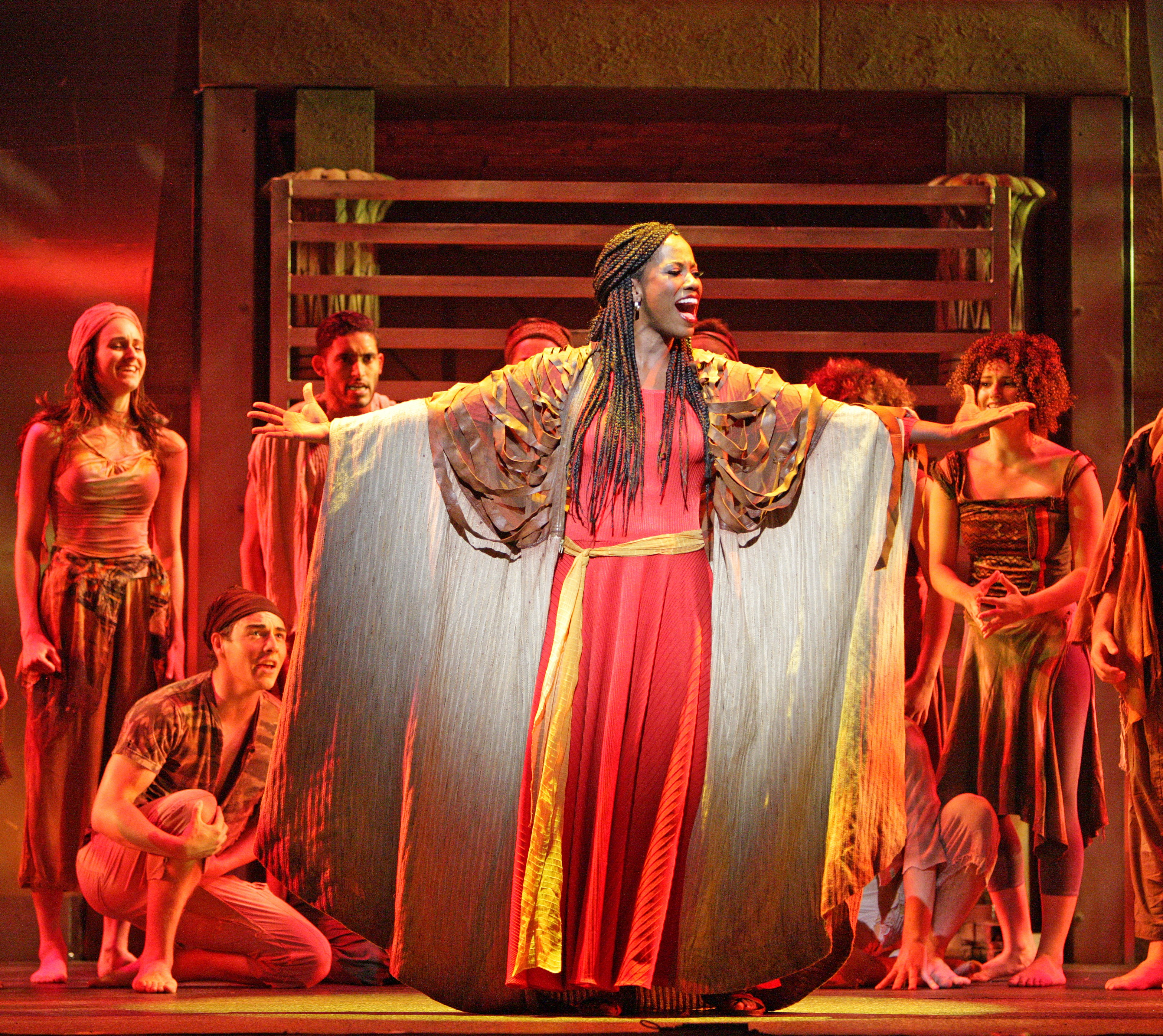 The Nubian Princess Adia (Zakiya Young), center, in Music Theatre Witchita's production of 'Elton John and Tim Rice's Aida.' Photo: Christopher Clark.