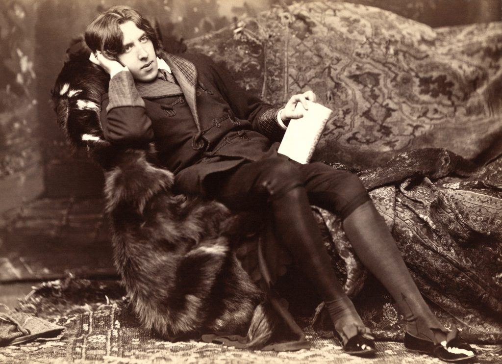The very model of a public intellectual: Oscar Wilde in 1882, photographed during the U.S. speaking tour that made him an intercontinental celebrity.
