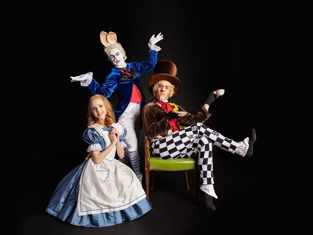 'Alice in Wonderland' is also on the new season slate. What fun! (l. to r., Amanda Cochrane, William Moore, and Cooper Verona. (photo: Duane Reider)