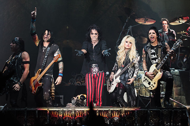 Alice Cooper and his band in concert during Halloween Night of Horror at Wembley Arena, London, England, 2012. photo: Kreepin Deth