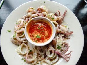 Sauteed calamari.