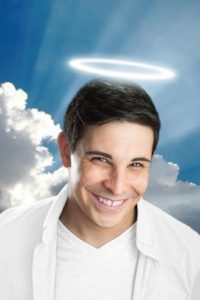 The pressure is on Marcus Steven who will be playing God in PPT's 'An Act of God.' photo: PPT