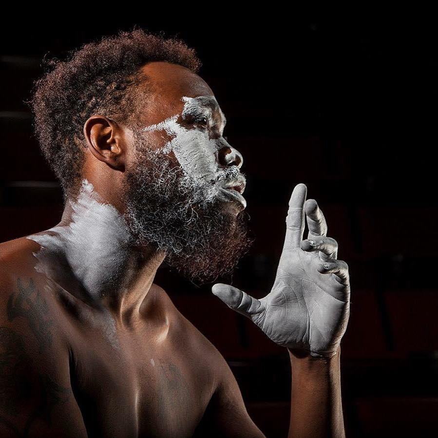 It takes a special black man to wear whiteface. Actor Ananias J. Dixon shows how, in Kinetic's black comedy 'An Octoroon.' (photo courtesy of the artist)