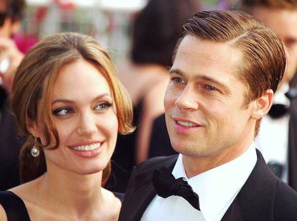 "Angelina Jolie and Brad Pitt at the Cannes Film Festival in 2007. They are starring opposite each other in the film ""By The Sea."" photo: Georges Biard via Wikimedia Commons."