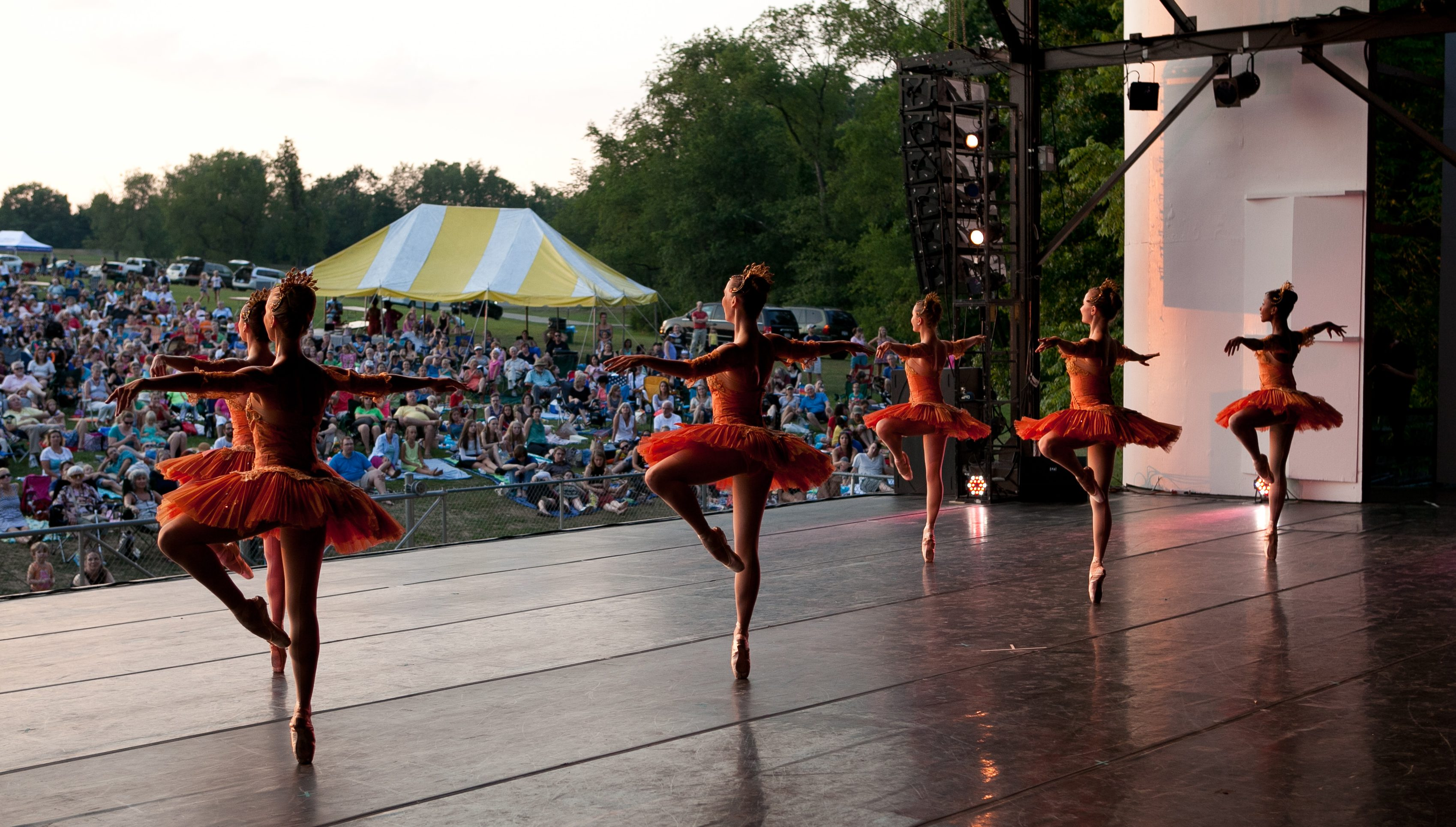 Ballet is seldom seen outdoors; the PBT free show at Hartwood Acres creates a distinctive experience.