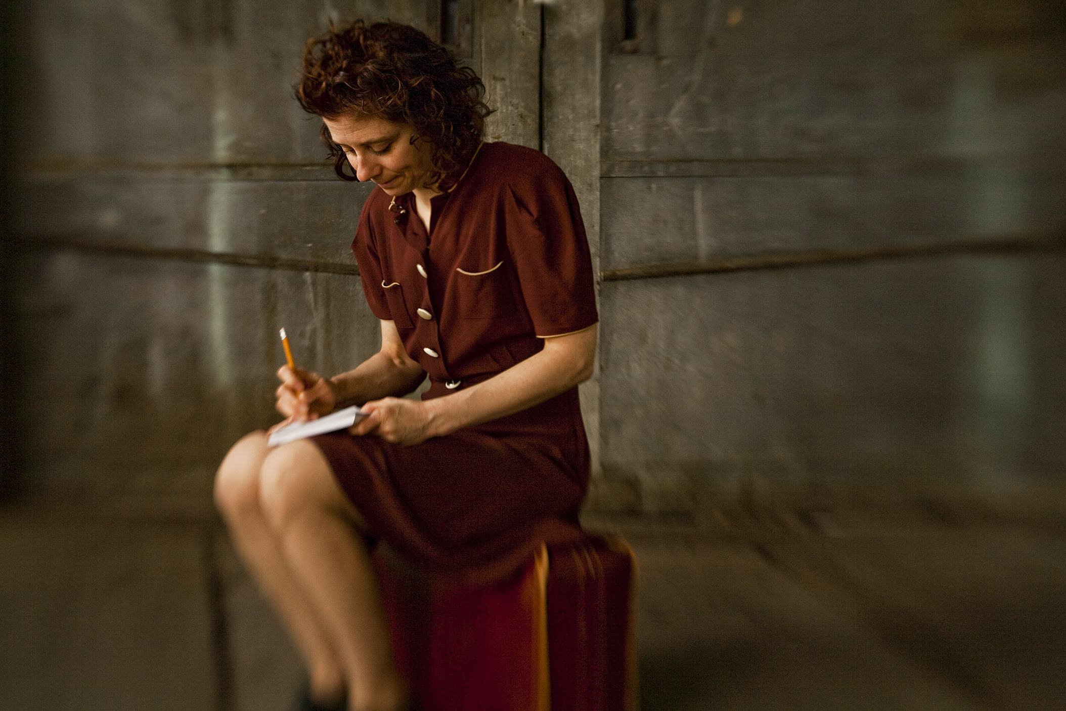 Susan Stein plays the diarist and Holocaust victim Etty Hillesum in 'Etty.' (photo: Ricardo Barros)