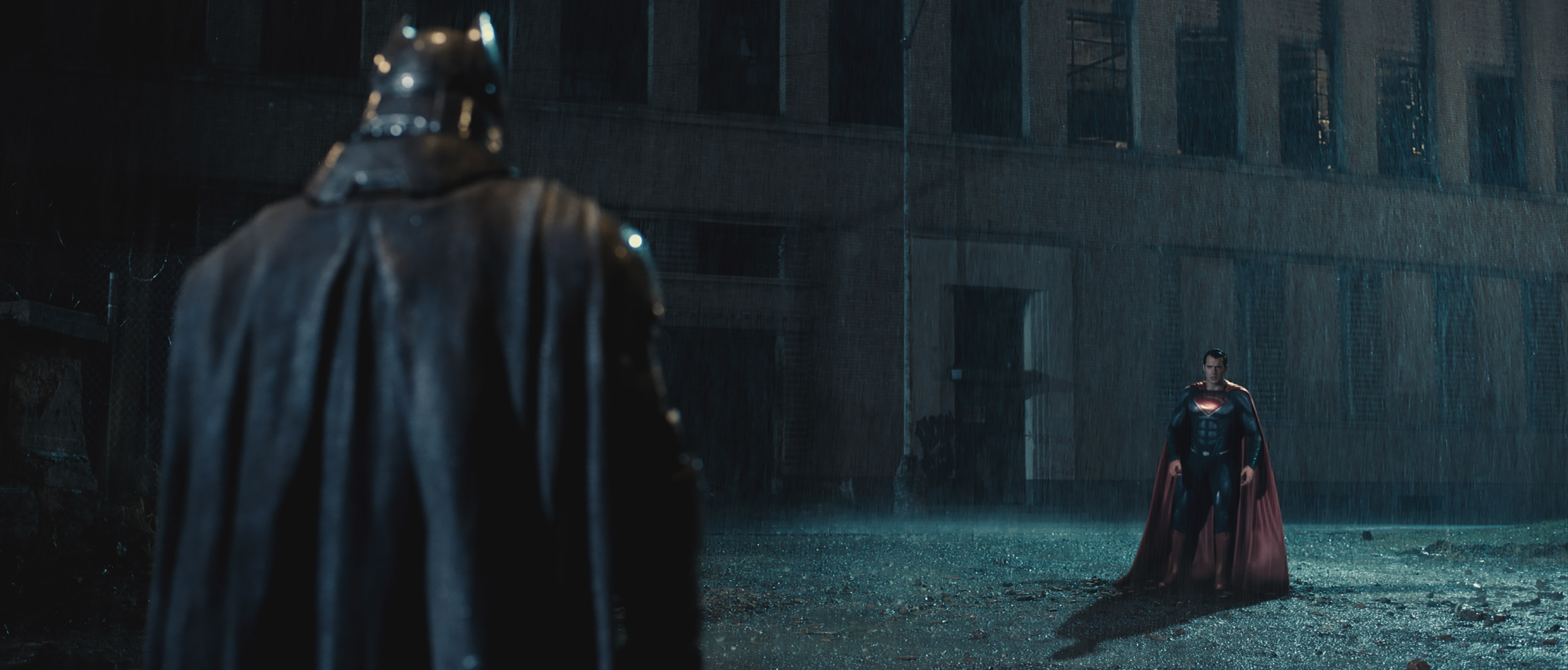 Ben Affleck as Batman and Henry Cavill as Superman. Photo: Courtesy of Warner Bros. Pictures/ TM & © DC Comics.