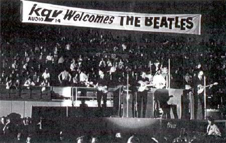 Beatles Performing at Pittsburgh's Civic Arena