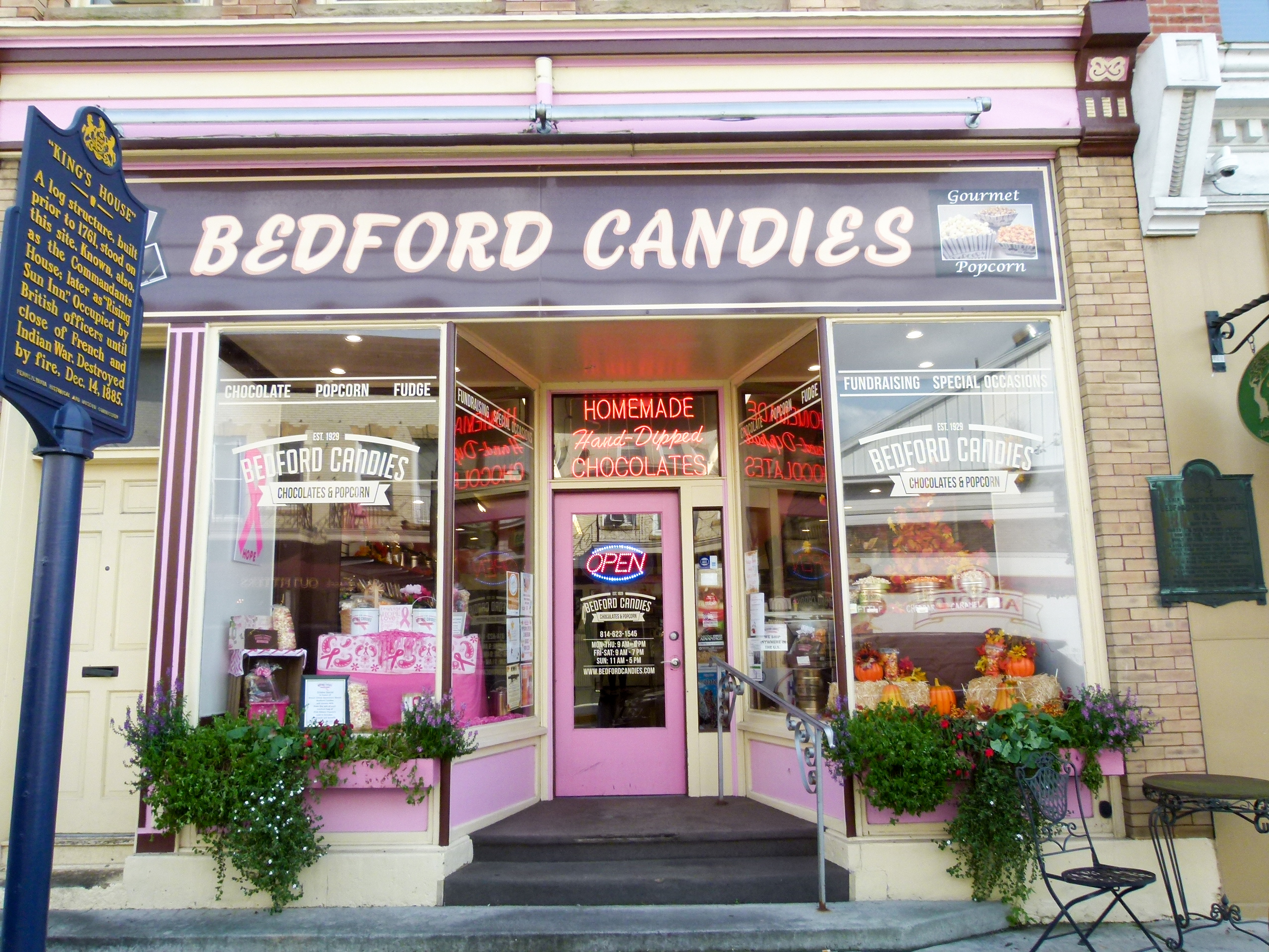 Bedford Candies is a longtime favorite of Bedford residents and visitors.