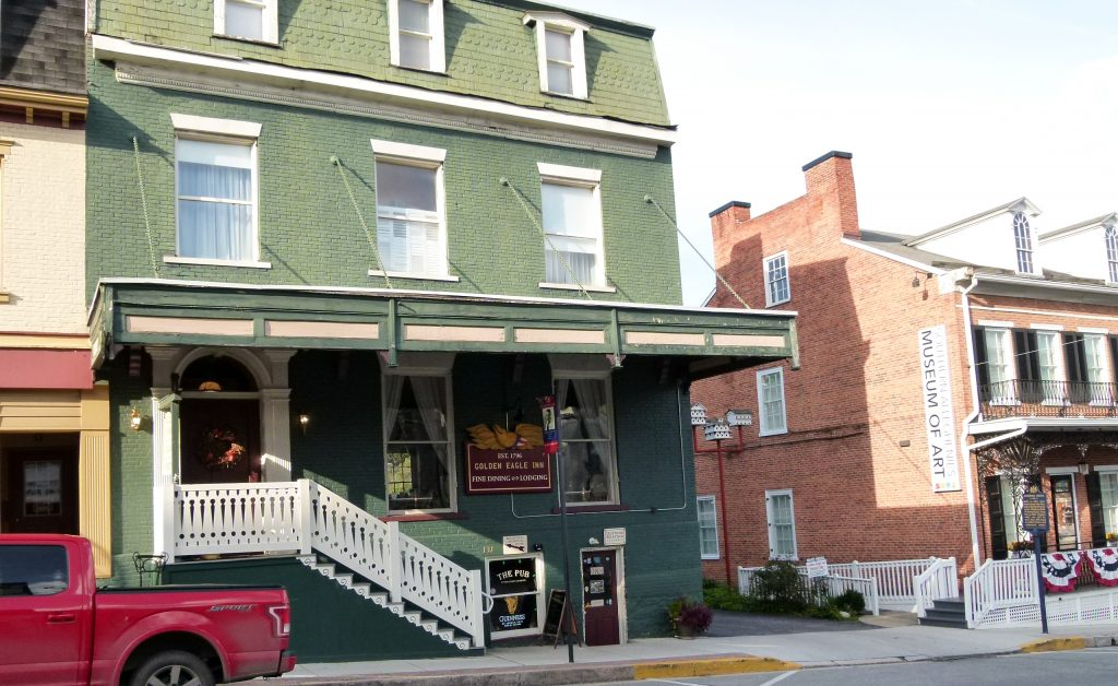 The Golden Eagle Inn's building is one of Bedford's oldest, dating back to 1794.