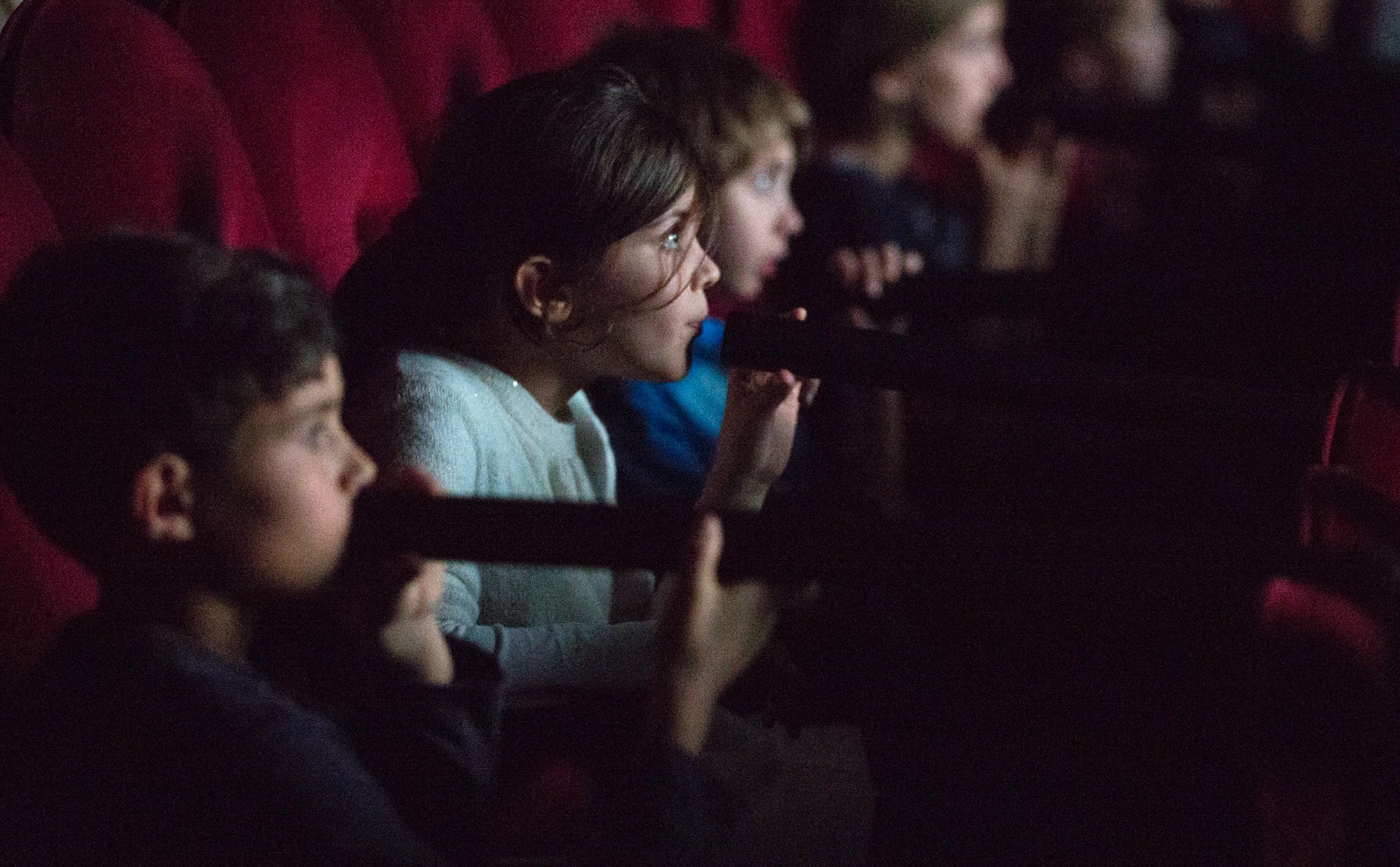 Only the children see, and only the children speak, in 'Blind Cinema.' (Photo courtesy of Britt Hatzius)