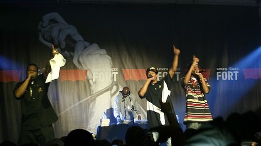 Bone Thugs N Harmony performing at the Levis Fort at SXSW in 2010. photo: Kmilo and Wikipedia.