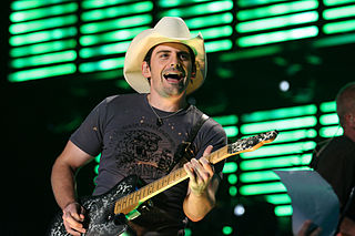 Brad Paisley performing live at the Jacksonville Veterans Memorial Arena in Jacksonville, Florida, August 10, 2007. photo: Brad Paisley.