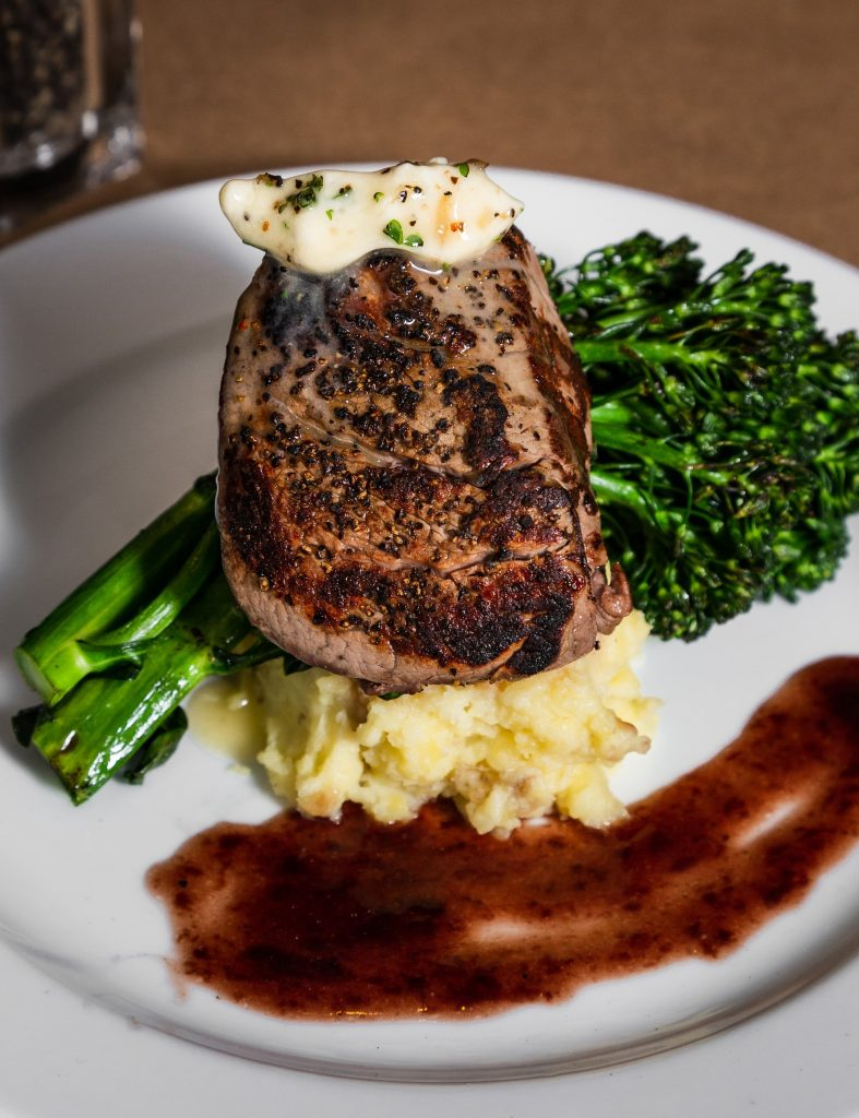 Center-cut filet is one of the featured entrees on the Valentine's Day menu at Braddock's Rebellion.