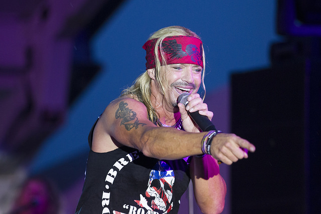Bret Michaels performs in Massapequa, NY in 2014. photo: Rjkowal and Wikipedia.