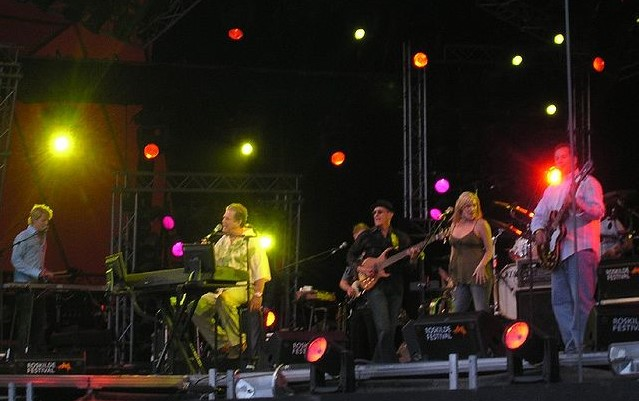 The Brian Wilson Band performing at Denmark's Roskilde Festival in 2005. photo: Pardy and Wikipedia.
