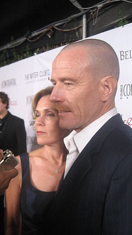 Bryan Cranston and wife Robin Dearden at an Emmy party in 2008. photo: watchwithkristin and Wikipedia.