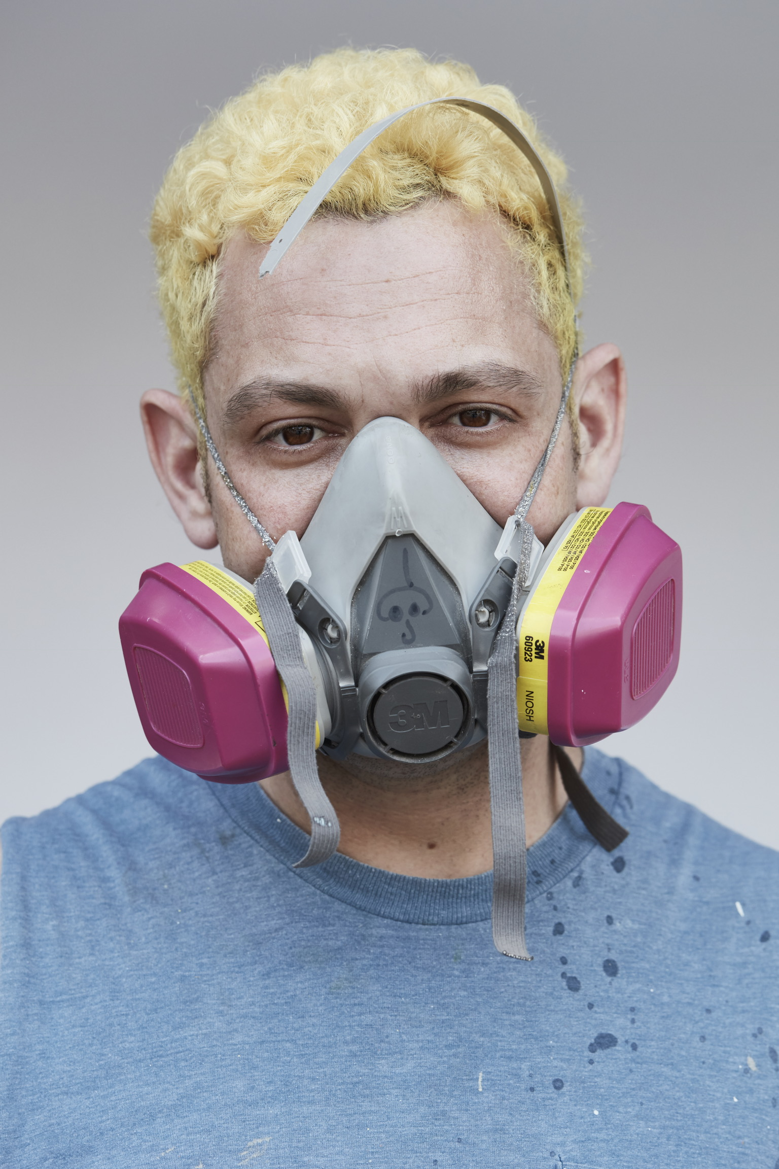 Youngsters take note: Alex Da Corte is bold with his art but he always wears safety gear. (photo: Jannick Boerlum)