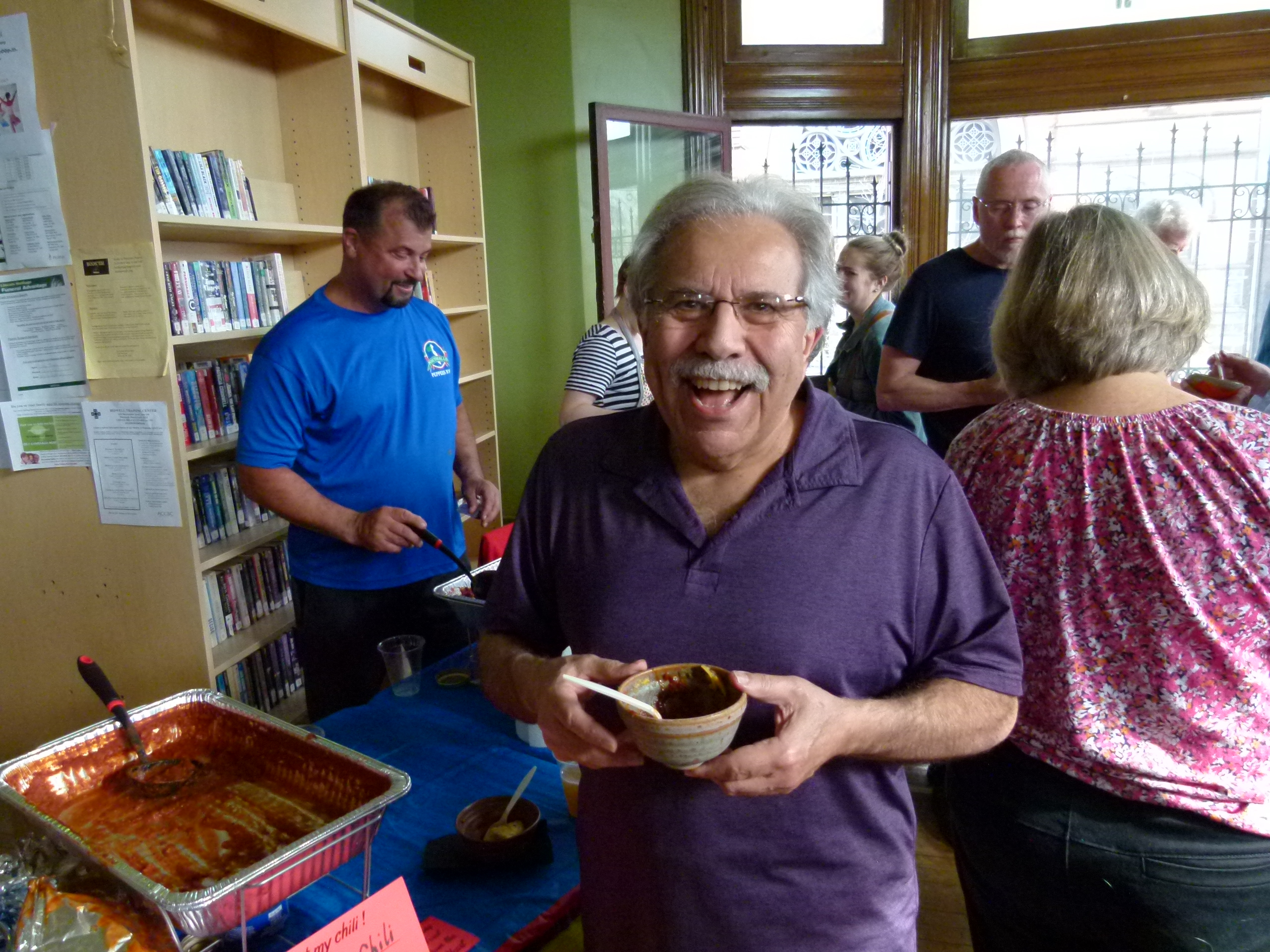 Oh look, it's noted filmmaker Tony Buba who hails from the neighborhood. Everybody loves chili!