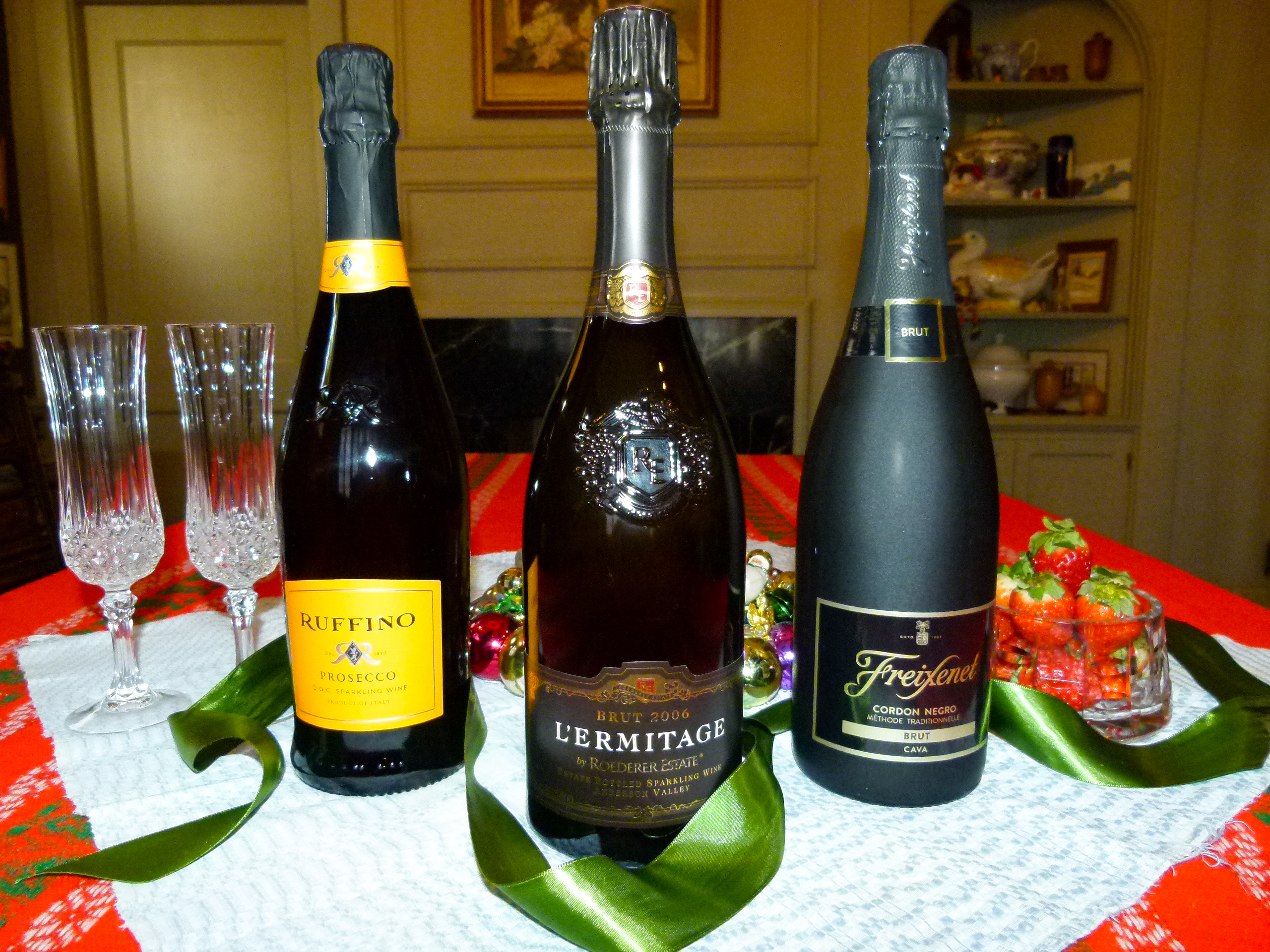 Several possible champagne choices for New Year's Eve. (photo: Rick Handler)