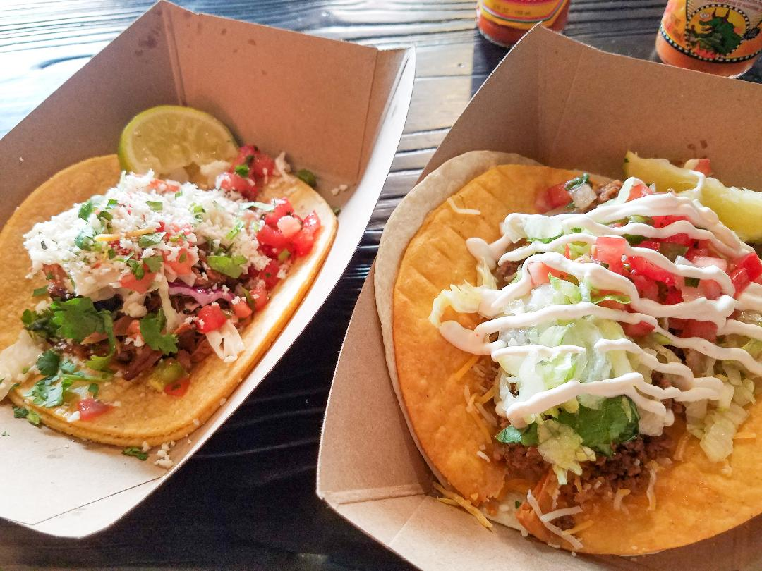 Tacos at Doce Taqueria are generous, good, and $3. (photo: Rick Handler)