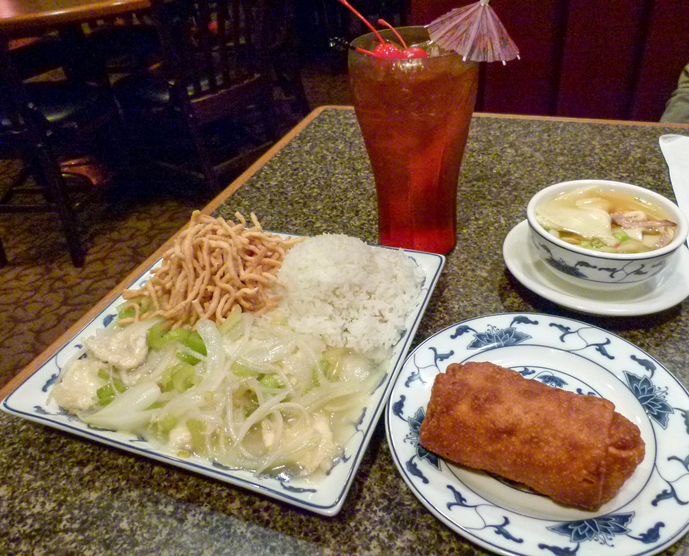 This meal is what I used to order as a young child with my family at Chinatown Inn.