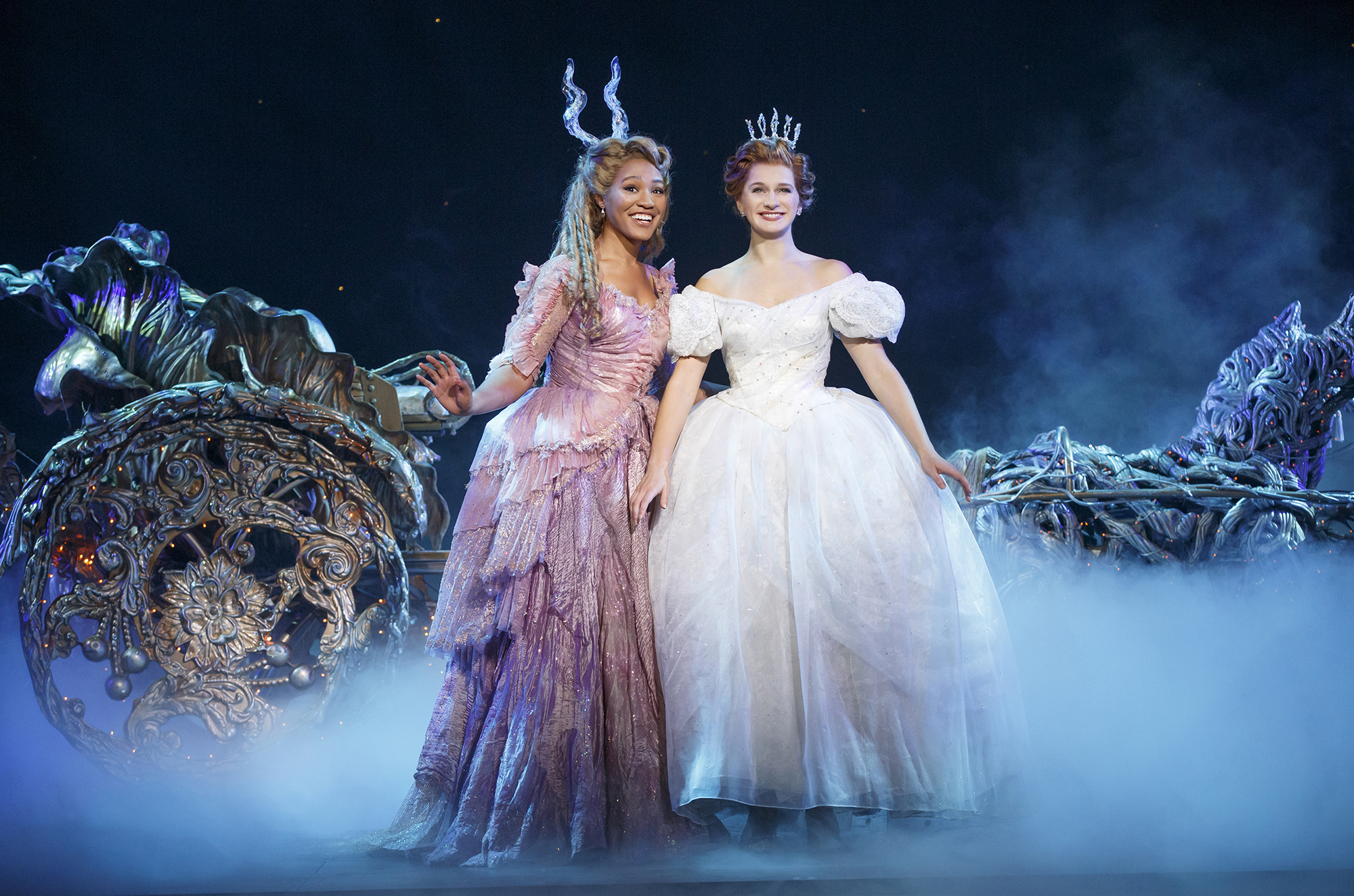 Can she have her prince and let them eat cake, too? Nope, the new socially conscious Cinderella champions the needy—with the help of Fairy Godmother (L)—in 'Rodgers + Hammerstein's Cinderella.'