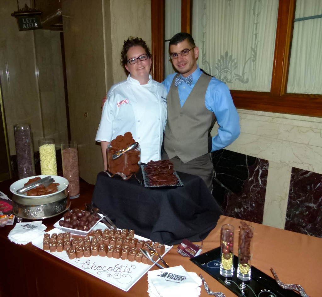 Cioppino was well represented by pastry chef Meghann Walsh and asst. GM Dominick Mastrogiacoma, who served Dark Chocolate Truffles, Chocolate Covered Bacon, Chocolate Bourbon Pecan Balls, Chocolate Turtles, and Chocolate Marshmallow.