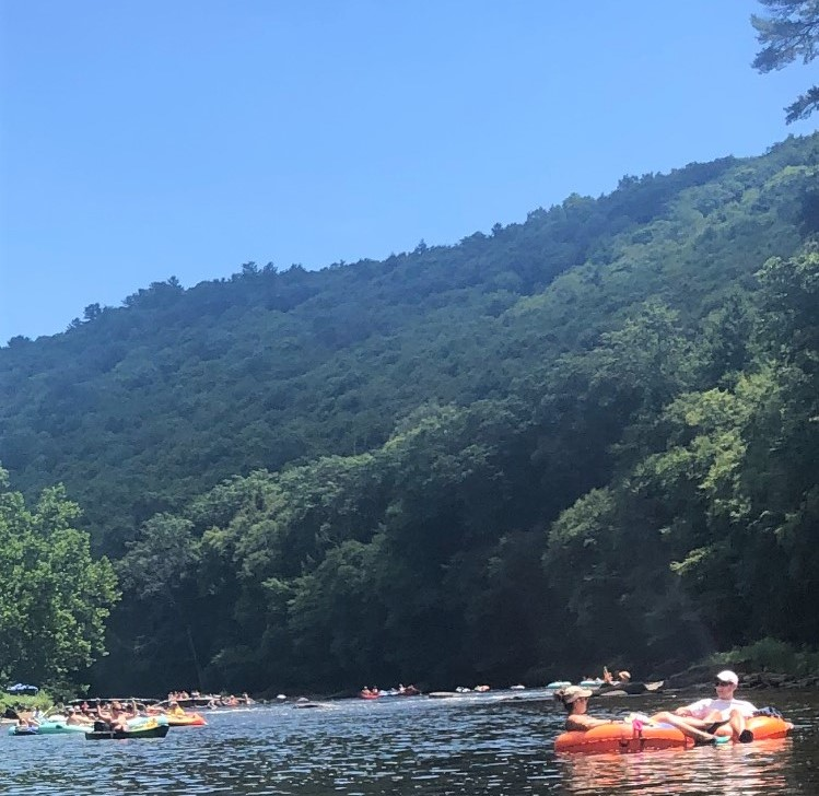 Tubing on the beautiful Clarion River is a fun way to spend a summer day. (photo: Rachel Francioni)