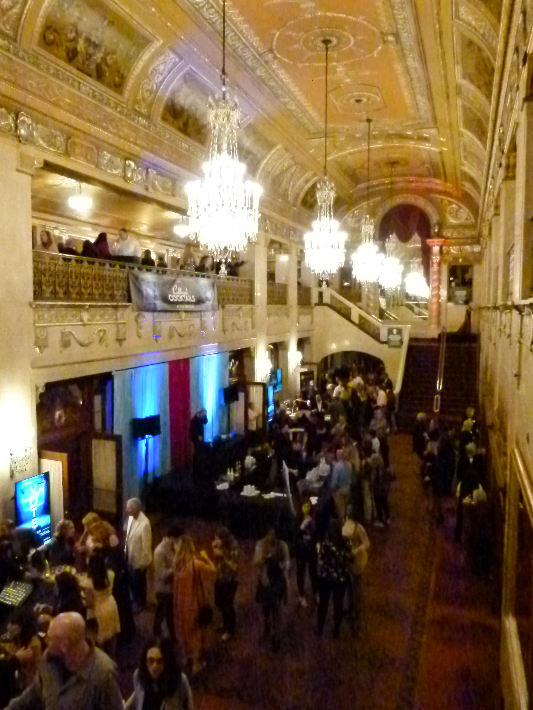The spectacular grand foyer of Benedum Center and its balcony promenades was the location for Cultured Cocktails.