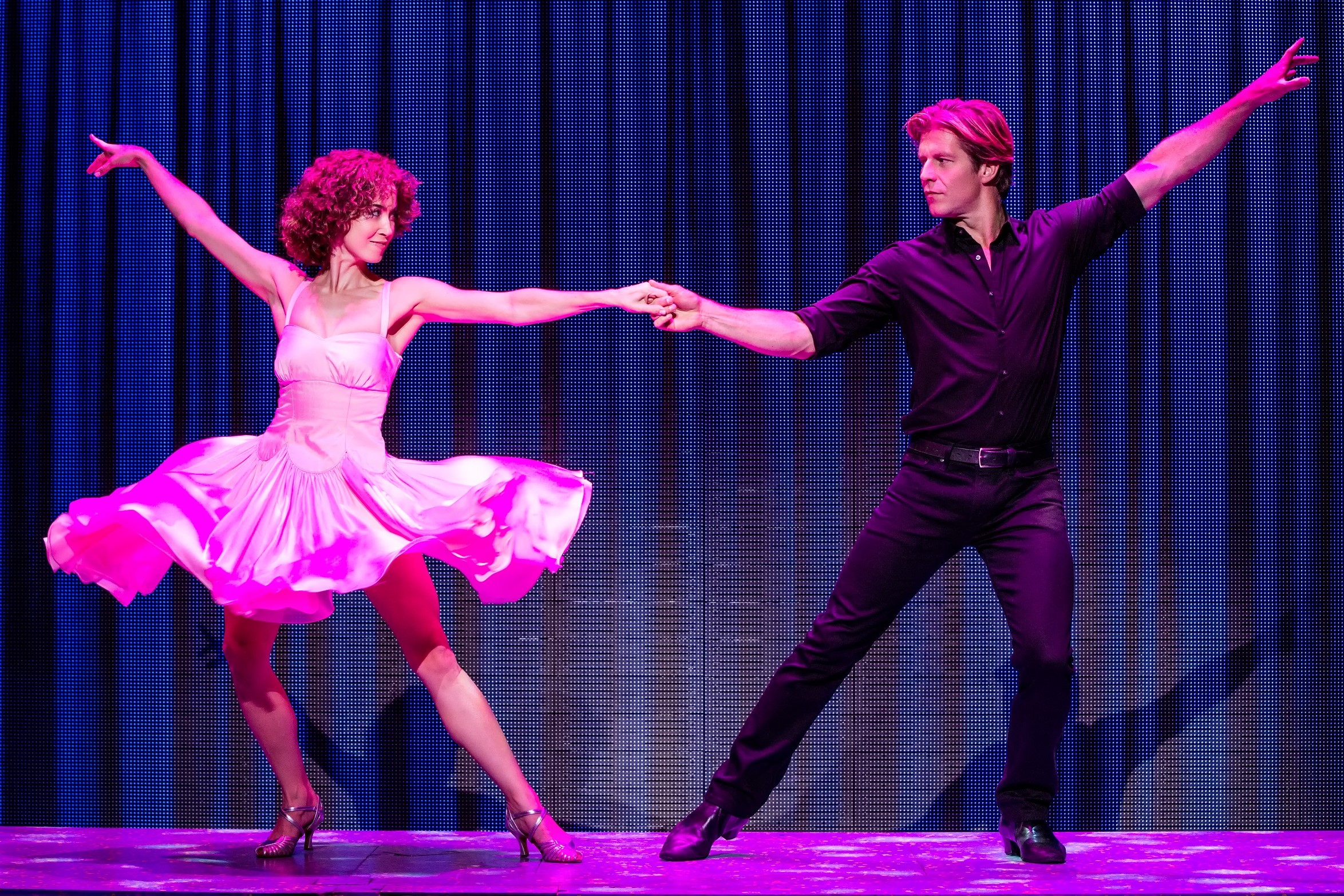 Bronwyn Reed (Baby) and Christopher Tierney (Johnny) in the North American tour of 'Dirty Dancing.' photo: Matthew Murphy.
