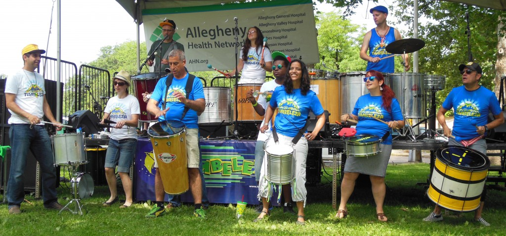 Pittsburgh's only batucada ensemble, jumpstart the third annual Deutschtown Music Festival with some Brazilian percussion.