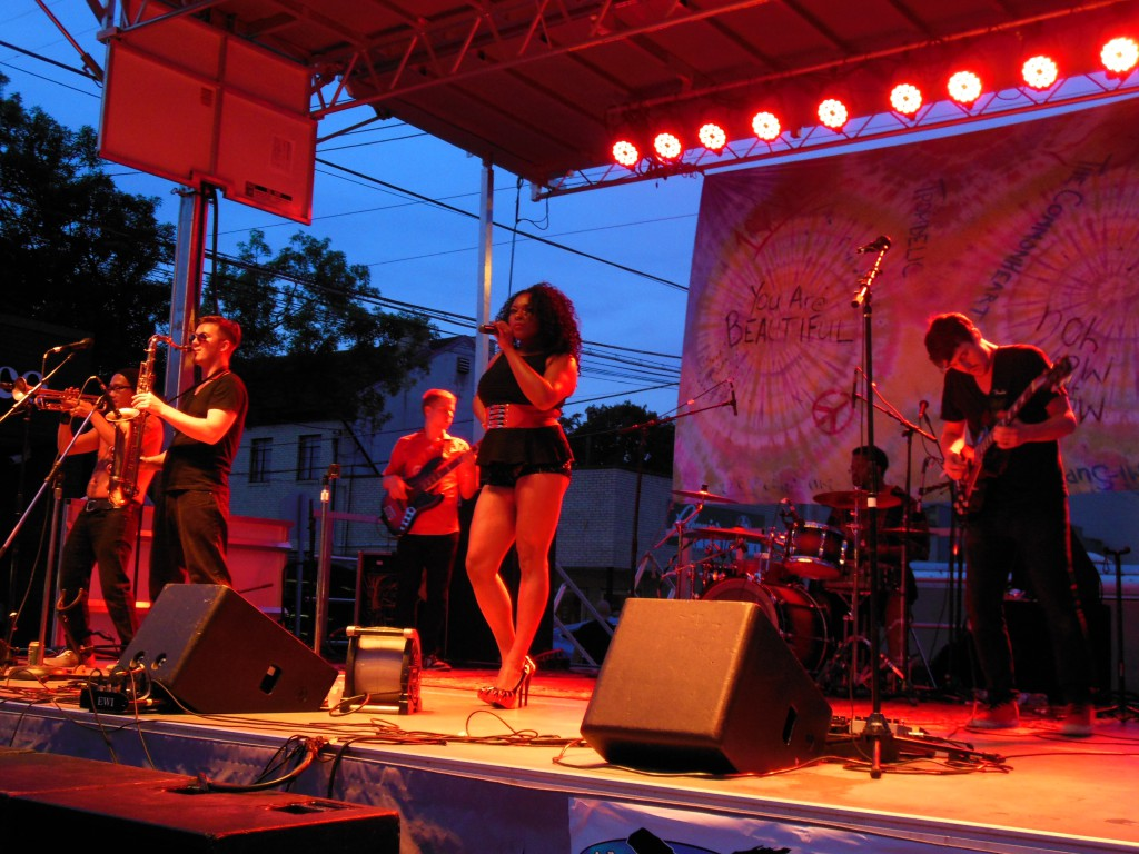 Columbus's Mojoflo bring the funk to the Deutschtown Music Festival's Main Stage on Foreland Street.