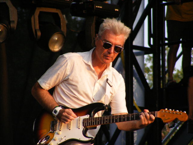 "David Byrne playing at ""Austin City Limits"" in 2008. Photo: Ron Baker."