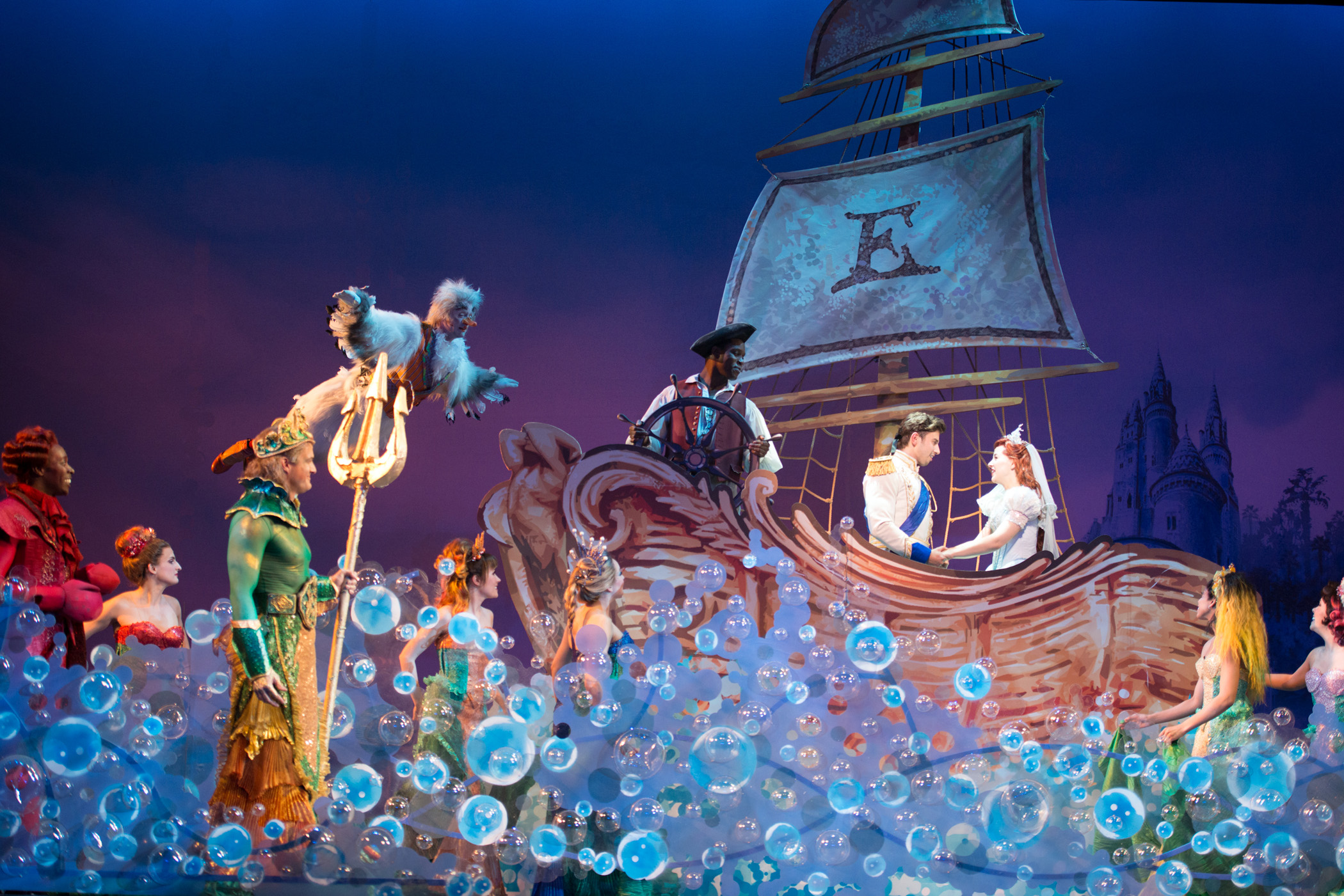 Disney's 'The Little Mermaid' sets a love story among the waves. photo: Billy Bustamante.