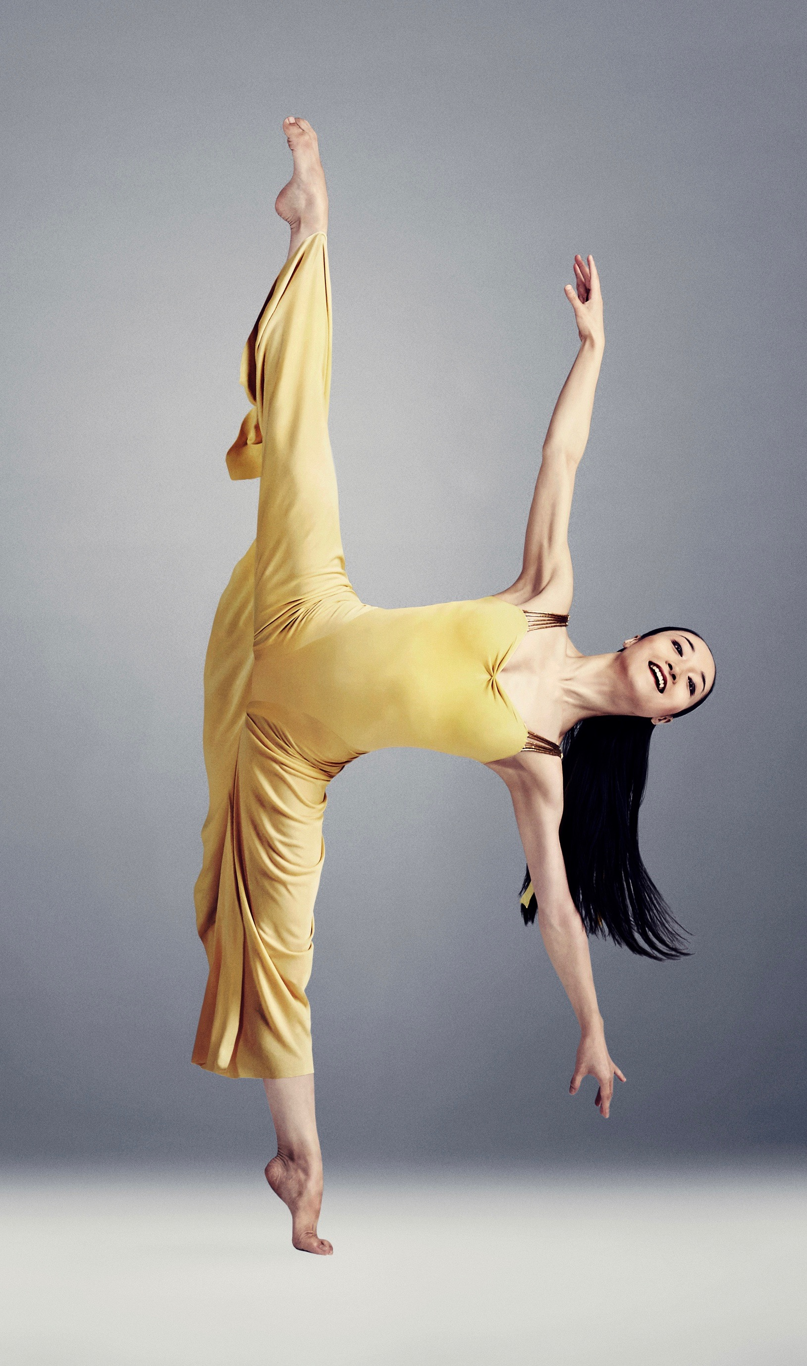 "Girlz rule: the Martha Graham Dance Company was originally all women, and the repertoire still features plenty of star turns for dancers like Xiaochuan Xie, shown here in ""Diversion of Angels."" (Photo: Hubbard Nash Photography)"